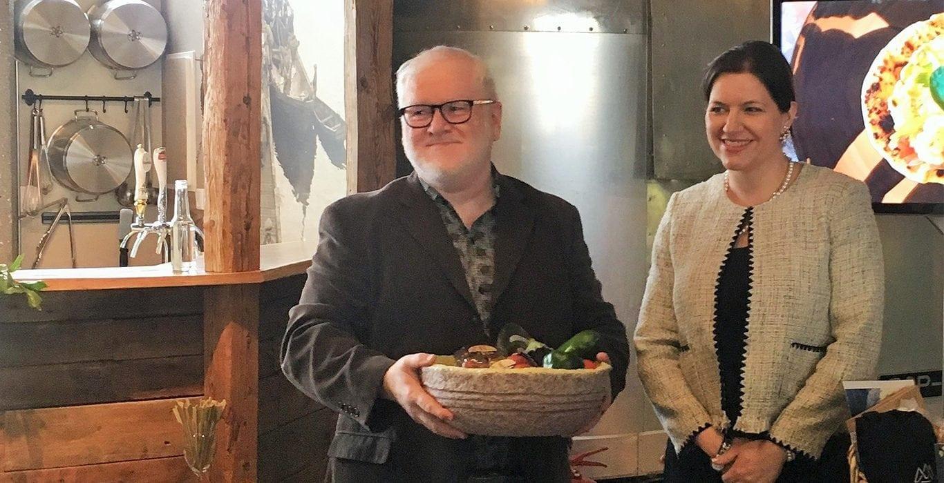 Baldur Garðarsson og frú Elíza Reid forsetafrú